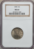 Liberty Nickels: , 1898 5C MS64 NGC. NGC Census: (138/102). PCGS Population (186/107).Mintage: 12,532,087. Numismedia Wsl. Price for problem ...