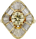 Estate Jewelry:Rings, Irradiated Diamond, Diamond, Gold Ring. ...