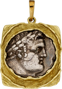 Ancient Coin, Gold Pendant