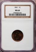 Indian Cents: , 1861 1C MS64 NGC. NGC Census: (570/370). PCGS Population (397/239).Mintage: 10,100,000. Numismedia Wsl. Price for problem ...