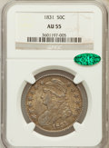 Bust Half Dollars: , 1831 50C AU55 NGC. CAC. NGC Census: (201/799). PCGS Population(215/690). Mintage: 5,873,660. Numismedia Wsl. Price for pro...