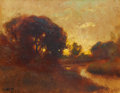 Paintings, WILLIAM KEITH (American, 1839-1911). Twilight's Glow, 1910. Oil on canvas laid on board. 11 x 14 inches (27.9 x 35.6 cm)... (Total: 6 Items)