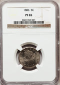 Proof Liberty Nickels: , 1886 5C PR65 NGC. NGC Census: (257/134). PCGS Population (284/99).Mintage: 4,290. Numismedia Wsl. Price for problem free N...