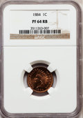 Proof Indian Cents: , 1884 1C PR64 Red and Brown NGC. NGC Census: (83/157). PCGSPopulation (172/167). Mintage: 3,942. Numismedia Wsl. Price for ...