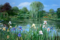 Fine Art - Painting, American:Contemporary   (1950 to present)  , PETER ELLENSHAW (British/American, 1913-2007). Monet's Garden,Giverny, 1997. Oil on canvas. 37-1/2 x 55 inches (95.3 x ...