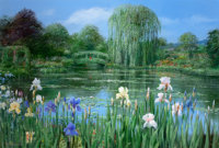 PETER ELLENSHAW (British/American, 1913-2007) Monet's Garden, Giverny, 1997 Oil on canvas 37-1/2