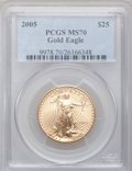 Modern Bullion Coins, 2005 G$25 Half-Ounce Gold MS70 PCGS. PCGS Population (373). NGCCensus: (3737). Numismedia Wsl. Price for problem free NGC...