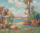 MAURICE BRAUN (American, 1877-1941) Cumulous Clouds and California Trees Oil on canvas 26 x 30 inches (66.0 x 76.2 cm