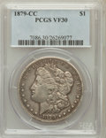 Morgan Dollars: , 1879-CC $1 VF30 PCGS. PCGS Population (147/3064). NGC Census: (71/1634). Mintage: 756,000. Numismedia Wsl. Price for proble...