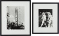 Explorers:Space Exploration, Apollo-Soyuz Cosmonauts and Soviet Kosmos-3 Rocket Photos. ...(Total: 2 Items)