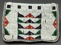 American Indian Art:Beadwork and Quillwork, A SIOUX BEADED LEATHER BELT POUCH. c. 1900...