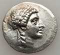 Ancients:Greek, Ancients: AEOLIS. Myrina. Ca. 155-145 BC. AR tetradrachm (33mm,16.48 gm, 12h). ...