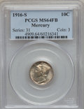Mercury Dimes: , 1916-S 10C MS64 Full Bands PCGS. PCGS Population (240/227). NGCCensus: (156/96). Mintage: 10,450,000. Numismedia Wsl. Pric...