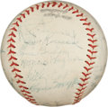 Autographs:Baseballs, 1947 Pittsburgh Pirates Team Signed Baseball with Honus Wagner....