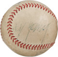 Autographs:Baseballs, 1950's Cy Young & Bob Feller Signed Baseball....