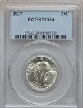 Standing Liberty Quarters: , 1927 25C MS64 PCGS. PCGS Population (250/111). NGC Census:(193/104). Mintage: 11,912,000. Numismedia Wsl. Price for proble...