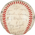 Autographs:Baseballs, 1951 St. Louis Browns Team Signed Baseball with Satchel Paige....