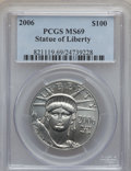 Modern Bullion Coins, 2006 $100 One-Ounce Platinum Eagle MS69 PCGS. PCGS Population(487/27). Numismedia Wsl. Price for probl...