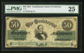 Confederate Notes:1861 Issues, T16 $50 1861 PF-11 Cr. 83.. ...