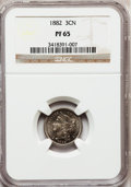 Proof Three Cent Nickels: , 1882 3CN PR65 NGC. NGC Census: (292/341). PCGS Population(326/370). Mintage: 3,100. Numismedia Wsl. Price for problemfree...