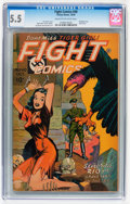 Golden Age (1938-1955):War, Fight Comics #40 (Fiction House, 1945) CGC FN- 5.5 Cream tooff-white pages....