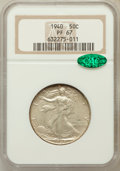 Proof Walking Liberty Half Dollars: , 1940 50C PR67 NGC. CAC. NGC Census: (334/51). PCGS Population(285/30). Mintage: 11,279. Numismedia Wsl. Price for problem ...