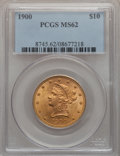 Liberty Eagles: , 1900 $10 MS62 PCGS. PCGS Population (1631/1052). NGC Census:(2505/2023). Mintage: 293,960. Numismedia Wsl. Price for probl...