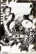 Original Comic Art:Covers, Ashley Wood and Jim Daly Ghost Rider 2099 #16 Cover OriginalArt (Marvel, 1995)....