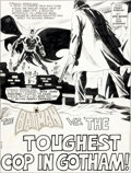"Original Comic Art:Splash Pages, Bob Brown and Dick Giordano Detective Comics #428 ""The Toughest Cop in Gotham"" Title Page 1 Original Art (DC, 1972..."