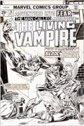 Original Comic Art:Covers, Gil Kane and John Romita Sr. Fear #24 Morbius the LivingVampire Cover Original Art (Marvel, 1974)....