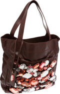 Luxury Accessories:Bags, Marc Jacobs Brown Leather Sonic Shopper Crystal Bag, Retail~$7,900. ...