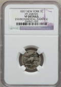 Medals And Tokens, 1837 1C New York -- Environmental Damage -- NGC Details VF.HT-268(5H) NGC Census: (0/0). PCGS Population (0/0). (#66183...
