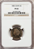 Proof Liberty Nickels: , 1883 5C With Cents PR65 NGC. NGC Census: (182/77). PCGS Population(172/52). Mintage: 6,783. Numismedia Wsl. Price for prob...