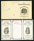 Miscellaneous:Other, Northeast Bank Form Specimens Early 1900s.. ... (Total: 5 items)
