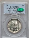 Commemorative Silver: , 1951 50C Booker T. Washington MS64 PCGS. CAC. Ex: Teich FamilyCollection. PCGS Population (714/882). NGC Census: (396/679)...