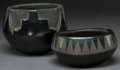 American Indian Art:Pottery, TWO SANTA CLARA BLACKWARE ITEMS. Tomasita Tafoya and MadelineTafoya... (Total: 2 Items)