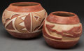 American Indian Art:Pottery, TWO SOUTHWEST REDWARE JARS... (Total: 2 Items)