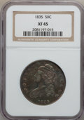 Bust Half Dollars: , 1835 50C XF45 NGC. NGC Census: (92/600). PCGS Population (108/547).Mintage: 5,352,006. Numismedia Wsl. Price for problem f...