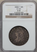 Bust Half Dollars: , 1808/7 50C Fine 15 NGC. O-101. NGC Census: (6/145). PCGS Population(13/194). Numismedia Wsl. Price for problem free NGC/...