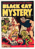 Golden Age (1938-1955):Horror, Black Cat Mystery #32 (Harvey, 1951) Condition: FN/VF....