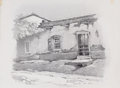 Works on Paper, EDWARD G. EISENLOHR (American, 1872-1961). Santa Fe, New Mexico, 1920. Charcoal pencil on cardstock. Image: 10 x 11 inch...