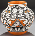 American Indian Art:Pottery, AN ACOMA POLYCHROME JAR. Robert Patricio...