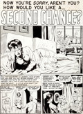 "Original Comic Art:Panel Pages, Sid Check Crime SuspenStories #13 ""Second Chance"" EC QuickiePage 5 Original Art (EC, 1952)...."