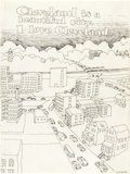 "Original Comic Art:Sketches, Robert Crumb ""I Love Cleveland"" Sketchbook Page Original Art (c. 1962)...."