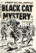 Original Comic Art:Covers, Lee Elias Black Cat Mystery #43 Cover Original Art (Harvey,1953)....