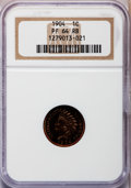 Proof Indian Cents: , 1904 1C PR64 Red and Brown NGC. NGC Census: (50/55). PCGSPopulation (96/42). Mintage: 1,817. Numismedia Wsl. Price forpro...