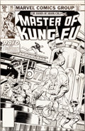 Original Comic Art:Covers, Mike Zeck and Gene Day Master of Kung Fu #95 Cover Original Art (Marvel, 1980)....