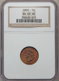 Indian Cents: , 1890 1C MS63 Red and Brown NGC. NGC Census: (124/517). PCGSPopulation (120/217). Mintage: 57,182,856. Numismedia Wsl. Pric...