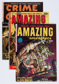 Golden Age (1938-1955):Science Fiction, Amazing Adventures/Crime Clinic Group (Ziff-Davis, 1951-52)Condition: VG+.... (Total: 3 Comic Books)