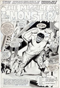 Original Comic Art:Splash Pages, John Buscema and John Tartaglione Tales to Astonish #85 HulkSplash Page 1 Original Art (Marvel, 1966)....
